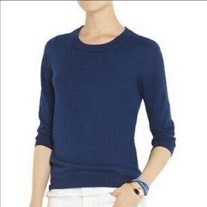J. Crew blue crew neck wool Tippi sweater #3259